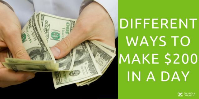 Different Ways to Make $200 in a Day